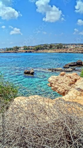 Beach rest on the seashore. Beautiful seascapes. Bright sun, sea air, good tan, the best resorts