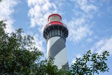 Lighthouse On Background Of Blue Sky