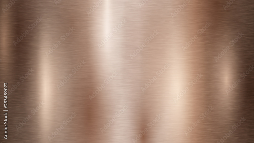 Fototapety, obrazy: Abstract background with metal texture in bronze color