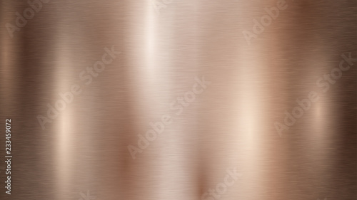 Fotografie, Obraz Abstract background with metal texture in bronze color