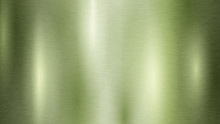 Abstract Background With Metal Texture In Light Green Color