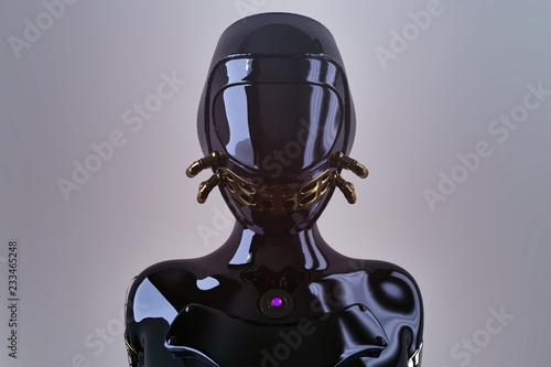 Photographie futuristic female punk cyborg - 3D rendering
