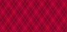 Argyle Vector Pattern. Dark Re...