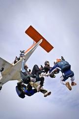 Fototapeta Skydivers having fun