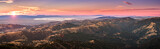 Fototapeta Room - Sunset view of south San Francisco bay area and San Jose from the top of Mount Hamilton, San Jose, California