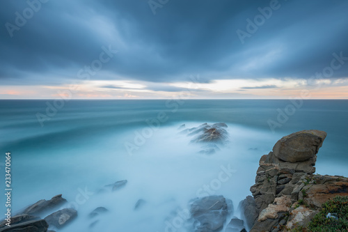 Fotografie, Obraz  Nice long exposure picture from a Costa Brava coastal in Spain, near town Palamo