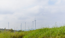 Windmill Turbine Field For Electric Production At Khao Kho, Petchabun, Thailand