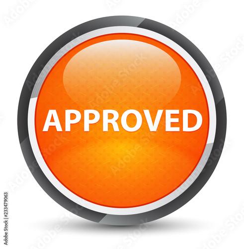 Fotografia, Obraz  Approved galaxy orange round button