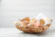 Basket With Different Soap Bar...