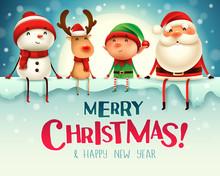 Santa Claus, Reindeer And Elf ...