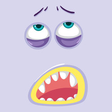 A Purple Monster Face
