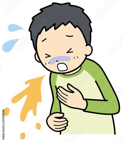 Fotografie, Obraz  嘔吐する子供