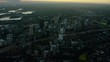 Aerial view of city buildings Downtown Highway Sydney