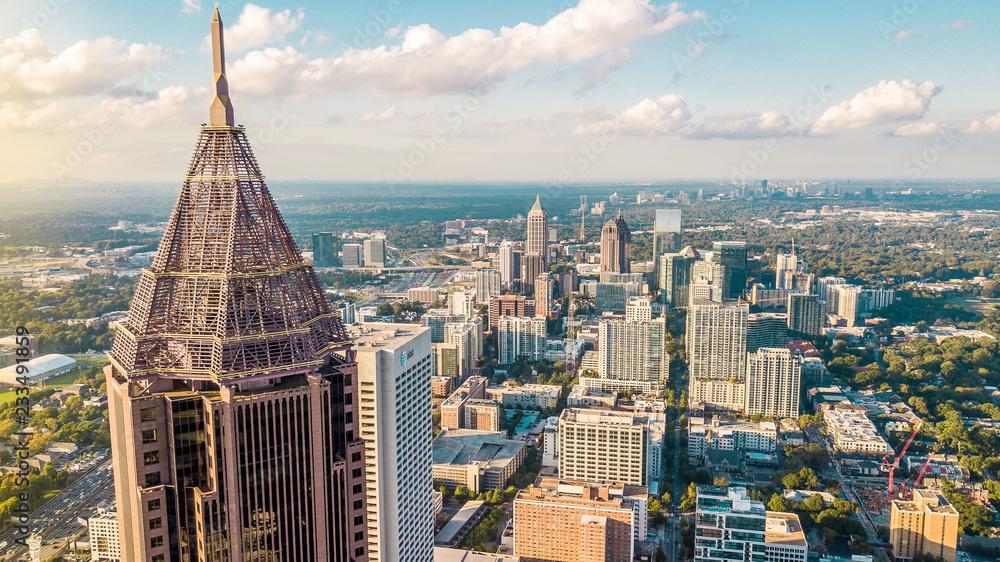 Fototapety, obrazy: Midtown Atlanta Aerial