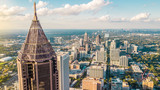 Fototapeta Nowy Jork - Midtown Atlanta Aerial