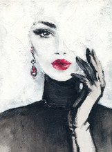 Beautiful Woman. Fashion Illus...