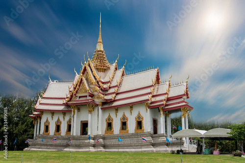 Spoed Foto op Canvas Bedehuis Thai Buddhist Temple Wednesday With more than 20 years of faith.