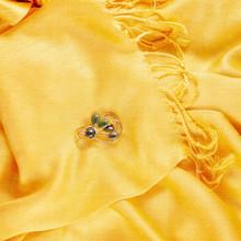 Vintage Jade Broach On Yellow ...
