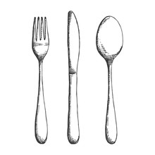 Cutlery Fork Spoon And Knife S...