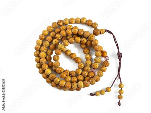 Fotografia  Buddhist prayer beads of bird cherry seed