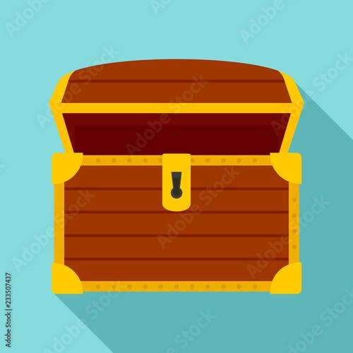 Leinwand Poster Open treasure chest icon