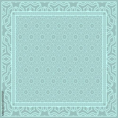 Fototapeta  Geometric ornament with frame, border
