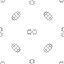 Dollar Coin Pattern Seamless V...