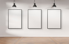 Three Frames Hanging On A Wall...