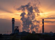 Sunrise Over Industrial Facto...