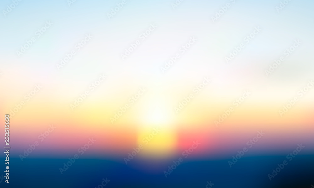 Fototapety, obrazy: Vector gradient blurred background. Natural color.