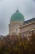 Budapest, Hungary - The famous Buda Castle Royal Palace on a foggy autumn morning