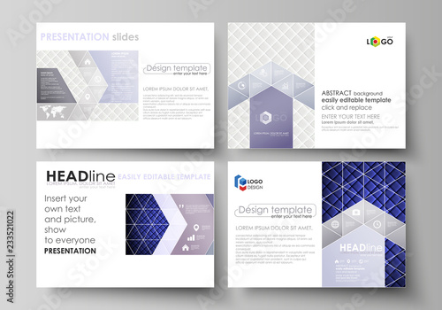 8c96f14ccb8bb Set of business templates for presentation slides. Easy editable abstract  vector layouts in flat design