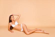 Full Legs Body Size Portrait Of Charming Cute Sweet Pretty Beaut