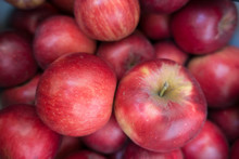 Close View Of Ripe Red Apples (Jonathan )