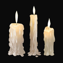 Illustration Of Candles Icon V...