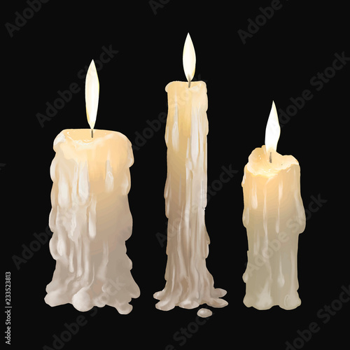 Fotografia Illustration of candles icon vector for Halloween