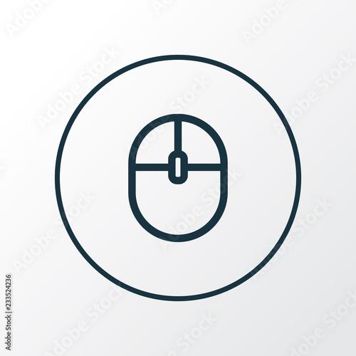 Fotografie, Obraz  Computer mouse icon line symbol