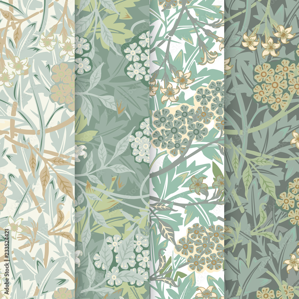 Fototapety, obrazy: Jasmine by William Morris (1834-1896). Original from The MET Museum. Digitally enhanced by rawpixel.