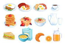 Cooking Breakfast, Vector Illu...
