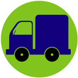 Truck icon. Vector illustration of car, truck, transport sign, symbol.