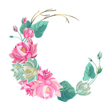 Floral Wreath, Garland With Lo...