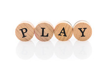 Word Play From Circular Wooden...