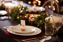 Christmas Table Setting With B...
