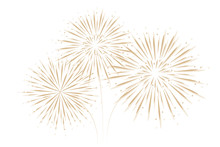 Firework Isolated On White Background Vector Illustration EPS10