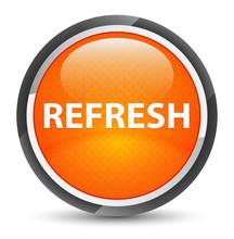 Refresh Galaxy Orange Round Button