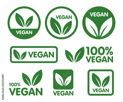 Papel de parede Vegan icon set