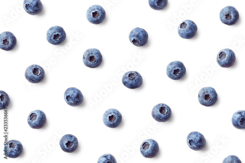Fotografia Fruit pattern of blueberries