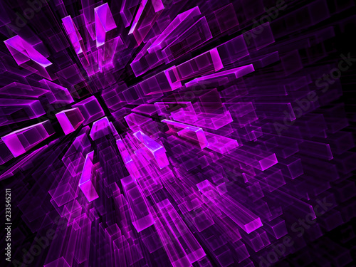 Abstract purple fractal background - digitally generated image
