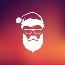 Christmas Vector Hipster Santa Claus