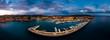 canvas print picture Aerial view, luxury marina Port Adriano, El Toro, Spain, Balearic Islands, Mallorca